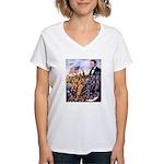 True Sons of Freedom Women's V-Neck T-Shirt