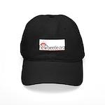 Black Baseball Cap (Red Logo)