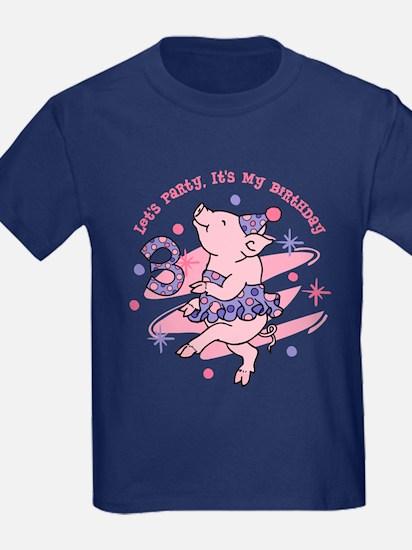 Tutu Piggy 3rd Birthday T