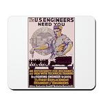 Engineers and Mechanics Wanted Mousepad