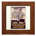 Engineers and Mechanics Wanted Framed Tile