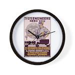 Engineers and Mechanics Wanted Wall Clock
