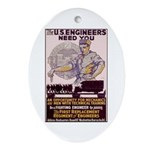Engineers and Mechanics Wanted Ornament (Oval)