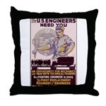 Engineers and Mechanics Wanted Throw Pillow
