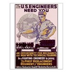 Engineers and Mechanics Wanted Small Poster