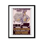 Engineers and Mechanics Wanted Framed Panel Print