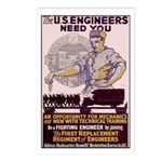 Engineers and Mechanics Wanted Postcards (Package