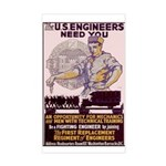 Engineers and Mechanics Wanted Sticker (Rectangle)