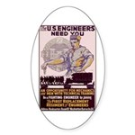 Engineers and Mechanics Wanted Sticker (Oval 10 pk