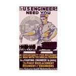 Engineers and Mechanics Wanted Sticker (Rectangle