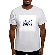 Babka  Rocks Ash Grey T-Shirt