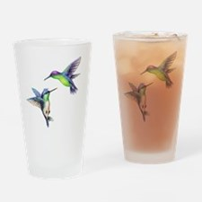 Cute Hummingbird bird Drinking Glass