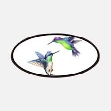 Pair of Metallic Green Blue and Purple Hummi Patch
