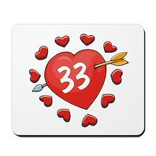 33rd Valentine Mousepad