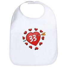 33rd Valentine Bib
