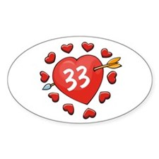 33rd Valentine Oval Decal