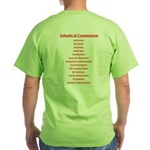 Schools of Communism Green T-Shirt