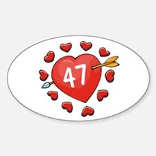 47th Valentine Oval Decal