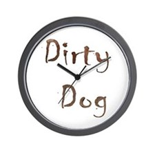 Dirty Dog Wall Clock
