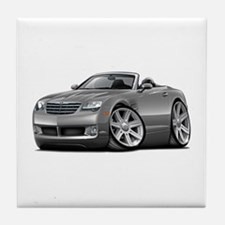 Crossfire Grey Car Tile Coaster