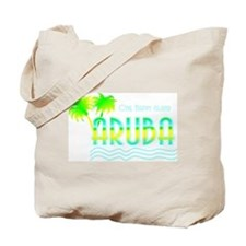 Aruba Palm Trees Tote Bag