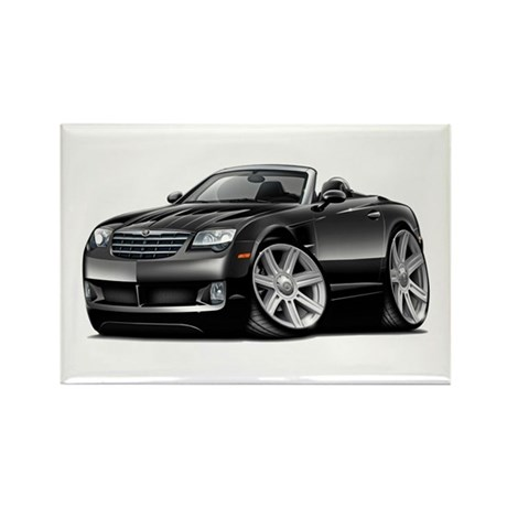 Crossfire Black Convertible Rectangle Magnet