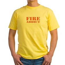 Yellow Fire Addict T-Shirt
