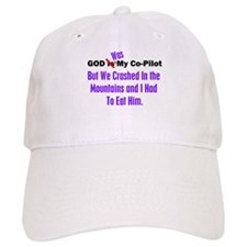 God was my co-pilot purple Baseball Cap