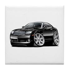 Crossfire Black Car Tile Coaster