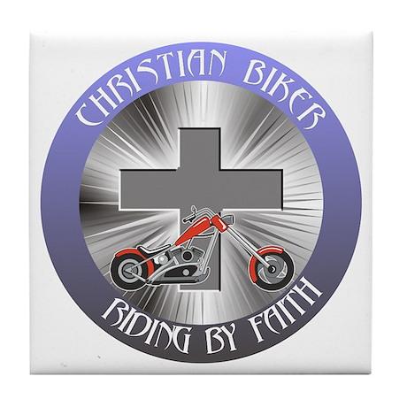 RIDING BY FAITH Tile Coaster