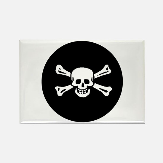 Jolly Roger Rectangle Magnet
