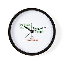 Feats strength Wall Clock