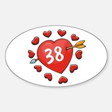 38th Valentine Oval Decal