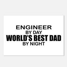 World's Best Dad - Engineer Postcards (Package of