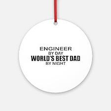 World's Best Dad - Engineer Ornament (Round)