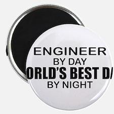 World's Best Dad - Engineer Magnet