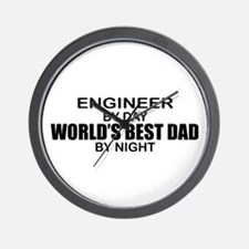 World's Best Dad - Engineer Wall Clock