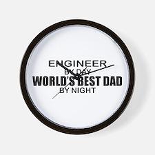 World's Best Dad - Engineer Wall Clock