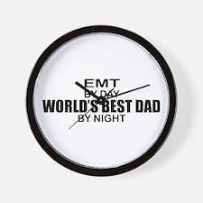 World's Best Dad - EMT Wall Clock