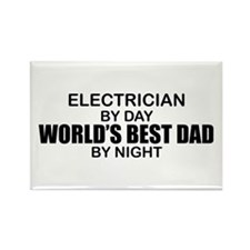 World's Best Dad - Electrician Rectangle Magnet