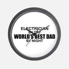 World's Best Dad - Electrician Wall Clock