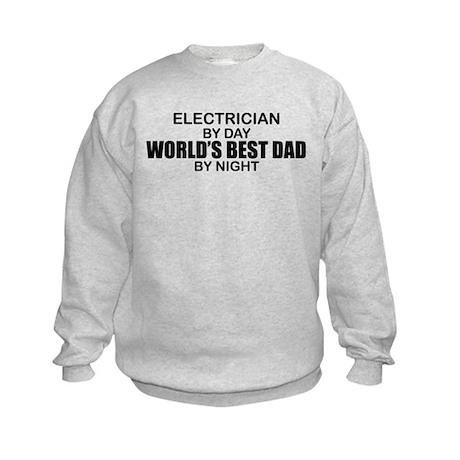 World's Best Dad - Electrician Kids Sweatshirt
