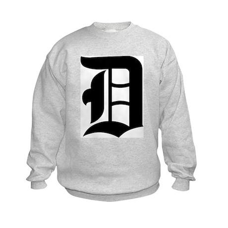 "Letter ""D"" (Gothic Initial) Kids Sweatshirt"