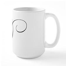 "Letter ""D"" (Cursive Initial) Mug"