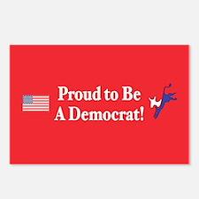Proud Democrat Postcards (Package of 8)