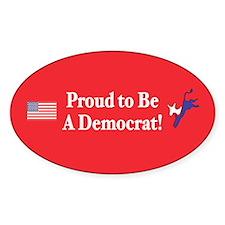 Proud Democrat Oval Decal