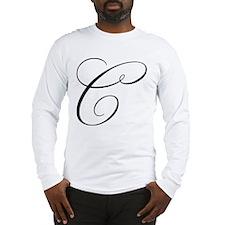 "Letter ""C"" (Cursive Initial) Long Sleeve T-Shirt"