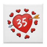 35th wedding anniversary Drink Coasters