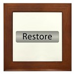 Go Restore! with this Framed Tile