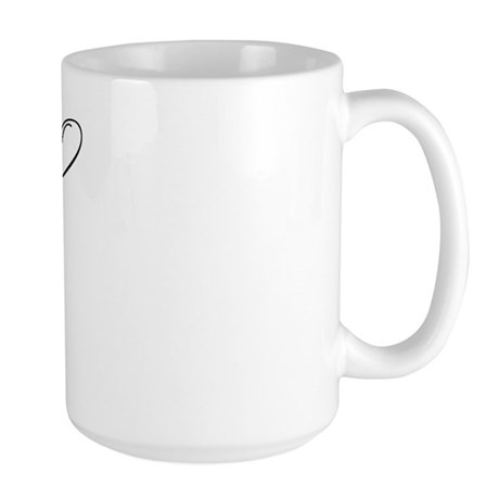 "Letter ""A"" (Cursive Initial) Large Mug"